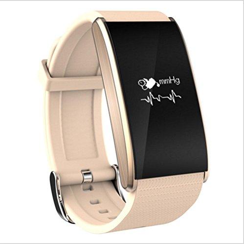 A58 Smart Armband Blutdruck Pulsmesser Übungsschritt Wasserdicht Hand Ring , gold