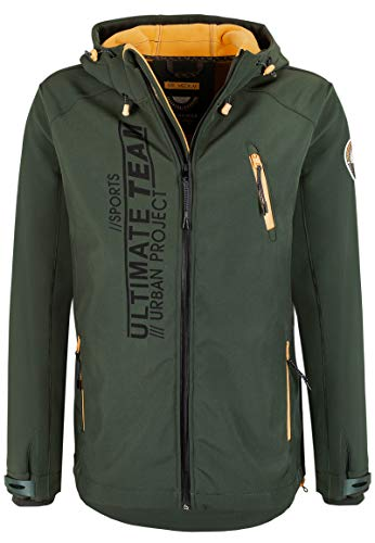 Innen-shell (Stitch & Soul Herren Softshell-Jacke mit warmen Innen-Fleece Dark-Green M)