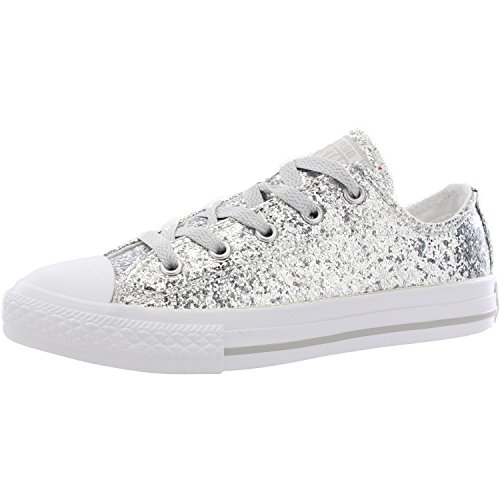 Converse Chuck Taylor All Star Glitter Pure Silver Synthetic 33 EU (Converse Girls High Tops)