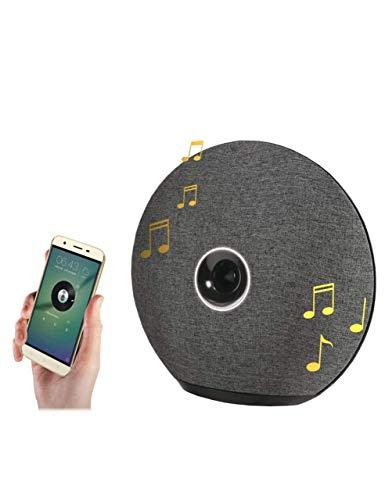 MANTA SPK515 Venus Bluetooth Altavoz inalámbrico diseño Elegante inalámbrico hasta 10 m de Distancia, Sonido 6 W, micrófono Incorporado, función Manos Libres, Gris