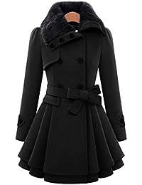 FNKDOR Nuevas mujeres abrigan abrigo chaqueta cortavientos gruesa Parka abrigo largo invierno outwear