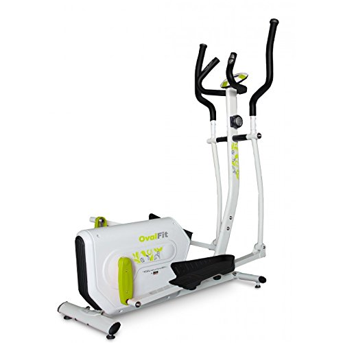 Tecnovita by BH OVAL FIT YF961. Flywheel 11 lbs. Train every muscle! Elliptical crosstrainer. Easy access. White.