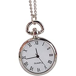 Antique Quartz Movement Round Dial Pocket Watches Pendants With Alloy Chain for Men Women