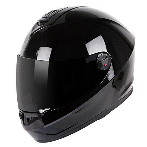 Yujie casco moto casco integrale reversibile visiera parasole collisione alta sicurezza casco sportivo,black1