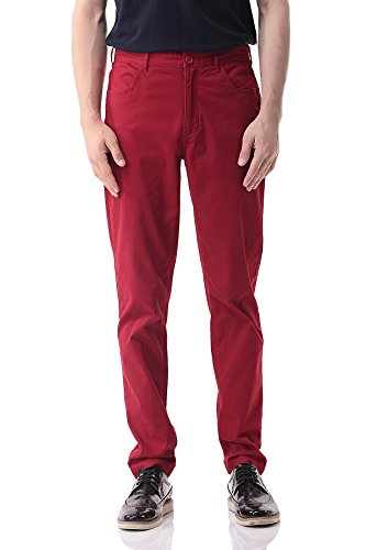 pau1hami1ton-ph-17-mens-straight-fit-flat-front-stretch-casual-work-pant-38-red