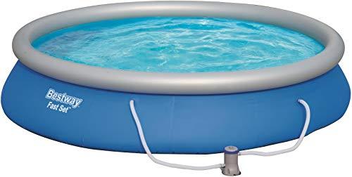 Bestway Fast Set Pool Set, mit Filterpumpe, blau, rund 457x84 cm