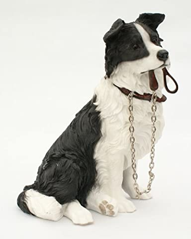 Sitting BORDER COLLIE Dog Ornament - From The Walkies Range