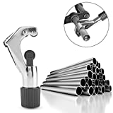 TAOtTAO Tagliatubi per tubi in rame, ottone, alluminio, plastica, PVC, 4 – 28 mm