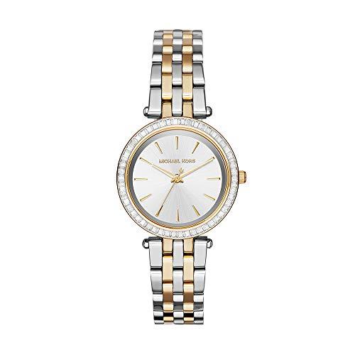 Michael Kors Damen Analog Quarz Uhr mit Edelstahl Armband MK3405