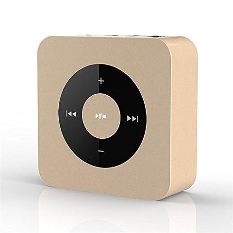 Metall mini drahtloser Bluetooth Lautsprecher mit Touch Control Portable Stereo intelligenter drahtloser bluetooth Lautsprecher für alle Telefone , (Cabinet Grille)