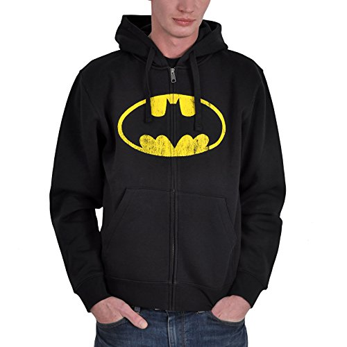 Chaqueta con capucha con logotipo de Batman color negro - M
