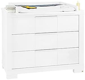 pinolino 133479b wickelkommode star breit hochglanz mdf uni wei lackiert baby. Black Bedroom Furniture Sets. Home Design Ideas