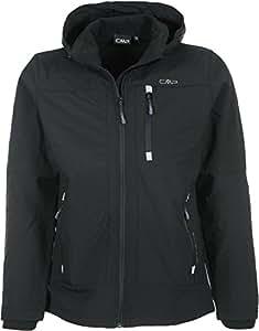 CMP Men's Soft Shell Jacket - Nero, Small