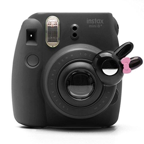 Süßes Häschen Selfie und die Nahaufnahme Lens für Fujifilm Instax Mini8 Mini10s Hellokitty Instant Kamera(Schwarz Häschen)