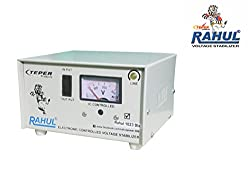 Rahul 1023 DLX c 700 VA/2.5 AMP 140-280 Volt 3 Step 1 Washing Machine/Refrigerator 90 Ltr to 220 Ltr Auto Matic Voltage Stabilizer