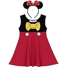 FYMNSI Bambini Ragazza Carnevale Costume Vestito Bambino Mickey Belle  Sirena Biancaneve Principessa Cosplay Tutu Senza Maniche cd05315a748