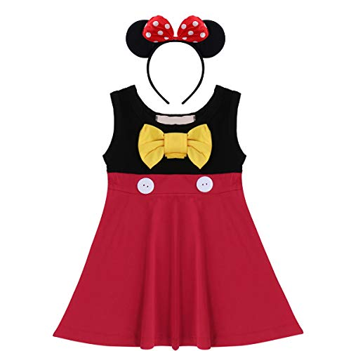 Ragazze Biancaneve Sirena Minnie Principessa Abito Cosplay Costume Casuale  Estate Vestito per Cerimonia Pageant Holloween Natale 6944dc74505