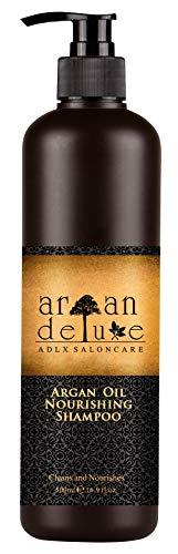 Argan Deluxe Shampoo in Friseur-Qualität 500 ml - stark pflegend mit Arganöl für Geschmeidigkeit und Glanz -