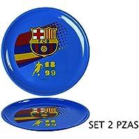 Atosa Set de 2 Platos Deporte blaugrana del FC Barcelona