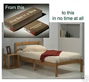 COMPLETE SOLUTION SOLID PINE SINGLE BED IN A BOX