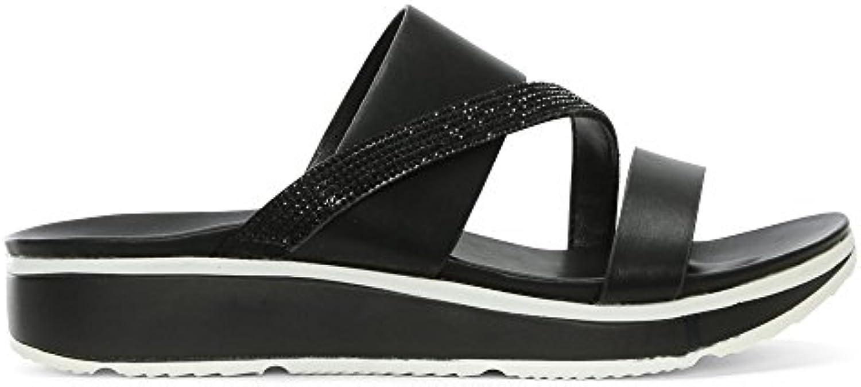 DF By Daniel Daniel Daniel Wicket nero Diamante Asymmetric Strap Sandals   unico  9e04b5