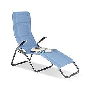 relaxdays gartenliege xxl bis 150 kg belastbar gro e b derliege mit kippfunktion. Black Bedroom Furniture Sets. Home Design Ideas