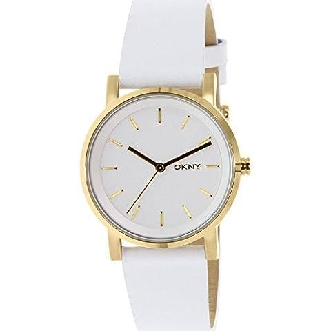 DKNY Damen-Armbanduhr SOHO Digital Quarz Leder NY2340