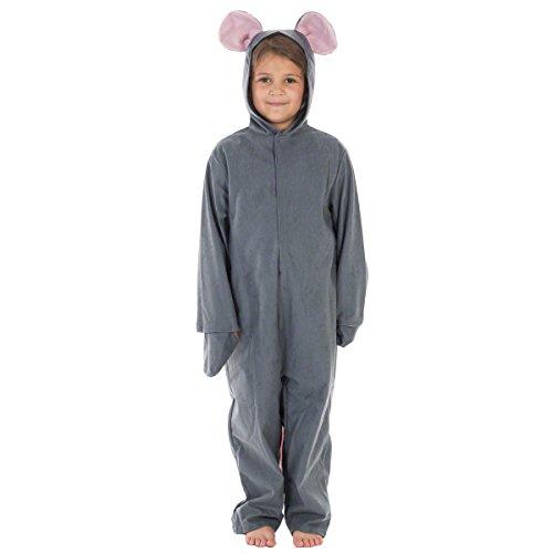 Unbekannt Charlie Crow Graue Maus Kostüm für Kinder 7-9 - Graue Maus Kostüm Für Erwachsene