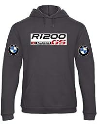 Sudadera con Capucha Deportiva Sweatshirt Hombre BMW R1200 GS MPower Motorrad Team Italia Motorsport Tuning Coche
