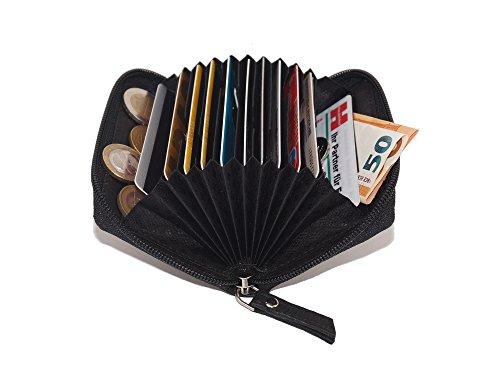 - para 13 ranuras para tarjetas de crédito  dimensiones: 11x7cm