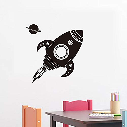 59x61cm Fashion Art Design Rocket ship Wall Stickers For Kids Room Decorative Vinyl Decals H Decor Waterproof Wallpaper -