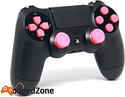 "PS 4 ""Black/Pink"" Rapid Fire Modded Controller for COD Black Ops3, Infinity Warfare, AW, Destiny, Battlefield: Quick Scope, Drop Shot, Auto Run, Sniped Breath, Mimic, More"