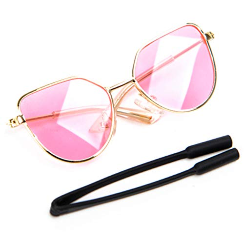 HUO FEI NIAO Pet Eyes - Mode Einfache Pet Runde Sonnenbrille (Color : Pink, Size : 8 * 6cm)