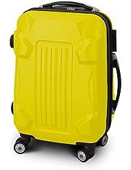 """Trolley Reisekoffer Reisetasche Gepäcktasche Größe M """"Armor"""" Farbe Gelb"""