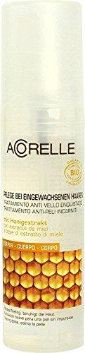 ACORELLE - Pflege gegen eingewachsene Haare - Mit antibakterieller Wirkung - Mit natürlicher AHA-Säure - Klärt die Haut & beugt Irritationen vor - 50 ml -