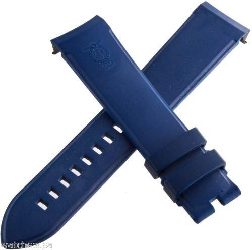 Arnold & Son echtem Blau Gummi Silikon Gurt Band 22mm x 20mm