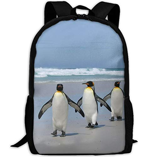 shuangshao liu Penguins On Beach Unisex Adult Custom Rucksack,School Casual Sports Book Bags,Durable Oxford Outdoor College Laptop Computer Shoulder Bags,Lightweight Travel Tagesrucksäcke