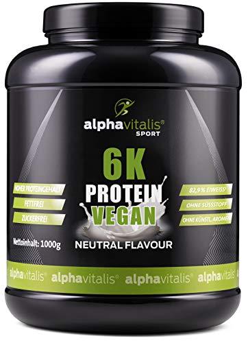 PROTEINPULVER Neutral - 6K Protein VEGAN 1 Kg - 82,9{1ea4e8461038cfa860747216875911b9c85dc7cfbb8ebefec891103a1af31406} Eiweißgehalt - ohne Süßstoff - zuckerfrei & fettfrei - natürlich auch zum Kochen und Backen