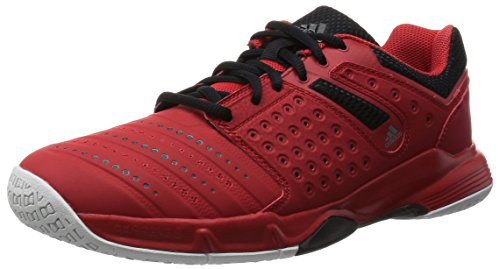 adidas Court Stabil 12, Chaussures de Handball Homme, Mehrfarbig Rot (Vivid Red S13/Core Black/Ftwr White)