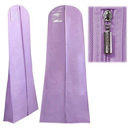 3 atmungsaktive Kleidersäcke für Hochzeitskleider - Weinrot - 183 cm - Hangerworld Violett