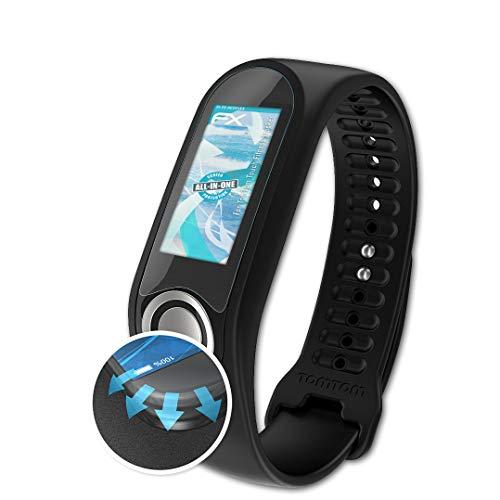 atFoliX Schutzfolie passend für Tomtom Touch Fitness Tracker Folie, ultraklare und Flexible FX Displayschutzfolie (3X)