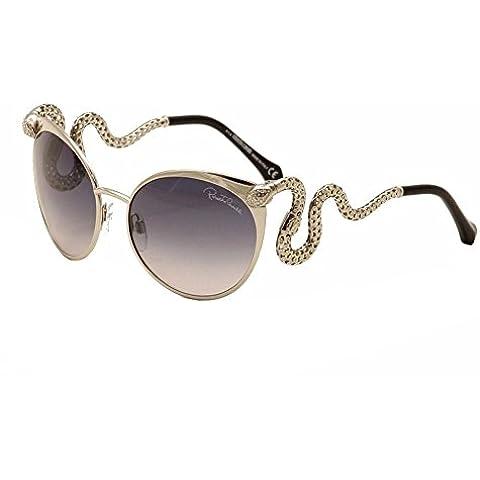 Roberto Cavalli Menkalinan serpente tempio occhiali da sole in argento RC890S 16B 57