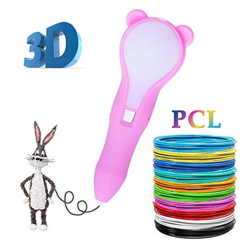 3D Stift, 3D Druckstift mit 1.75mm PLA-Faden-Satz,Der Stift für einen 3D Druck, ist ein großes Geschenk, für Kinder, Erwachsene, für Graffiti, Malerei, Kunstliebhaber und für selbst gestaltete Kunstwerke