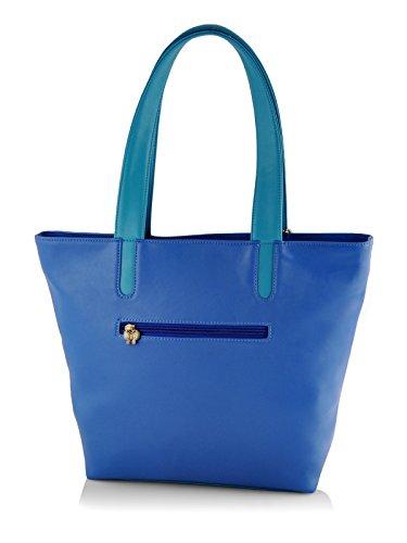 Butterflies Women's Handbag (Blue) (BNS CB049)