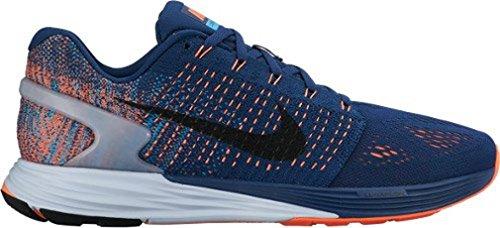 Nike Lunarglide 7 Scarpe da ginnastica, Uomo Blu/arancione/nero-azzurro (Brave Blue/Black-Blue Lagoon)