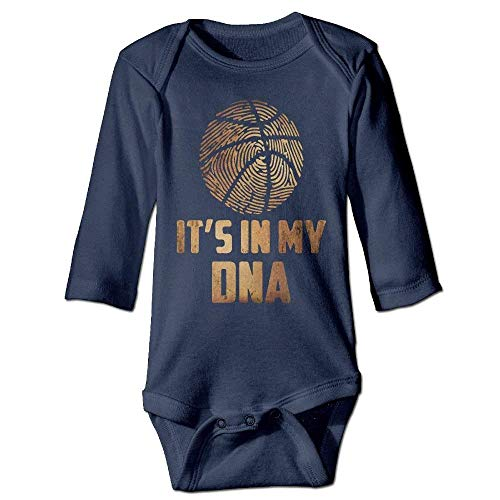 Bodysuit Onesies (Clothes socks Unisex Cotton Long Sleeve Basketball is My DNA Infant Baby Girls' Boys' Onesies Bodysuit Jumpsuit)