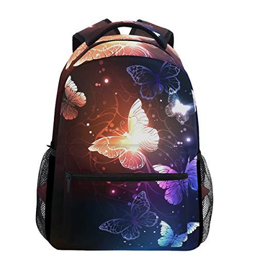 Oarencol - Zaino alla moda con farfalle, colorato, da viaggio, scuola, università, per uomo e donna