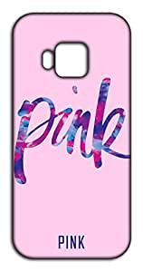 Happoz Pink Typography HTC One M9 back case Mobile Phone Back Panel Printed Fancy Pouches Accessories Z802
