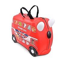 Trunki Valigia Cavalcabile Per Bambini: L'Autobus Boris (Red)