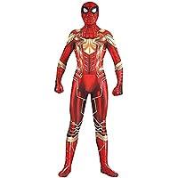 HHFHZ Traje de Disfraces de Spiderman Juego de rol Mono Trajes Cosplay Disfraces de Disfraces de Disfraces de Halloween de Halloween Jugando (Color : Oro, Tamaño : S)